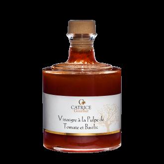Vinaigre à la pulpe de Tomate au basilic - bouteille empilable
