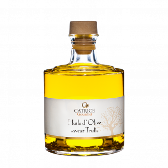 Huiles d'olive aromatisées et nature - bouteilles empilables