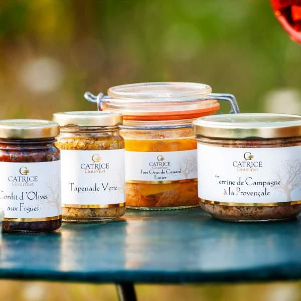 tapenade terrine confit et foie gras catrice gourmet epicerie salee